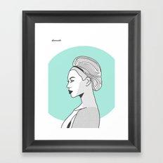 Profile B Framed Art Print