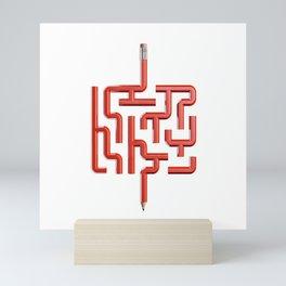 The Maze Writer Mini Art Print