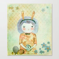 bunny Canvas Prints featuring Bunny by munieca
