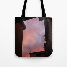 Pink Sunset - Spot the Face Tote Bag