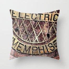 Electric Memphis Throw Pillow
