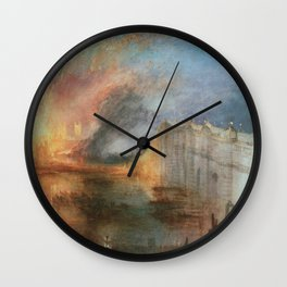 William Turner - The Burning of the Houses of Lords and Commons Wall Clock