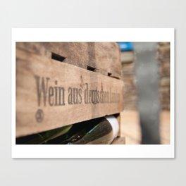 Deutscher Wein. Canvas Print