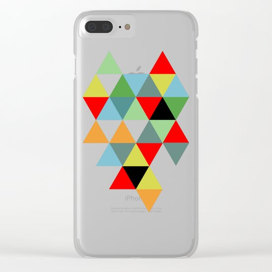 Abstract #593 Clear iPhone Case