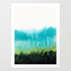 Watercolor abstract landscape 15 Art Print