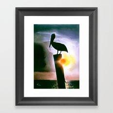 PELICAN PATROL Framed Art Print
