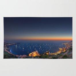Yacht show Sunset Rug