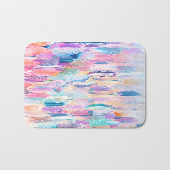 Candy Feathers  Bath Mat