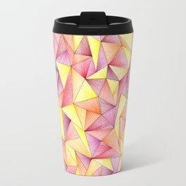 One Blue Triangle Travel Mug