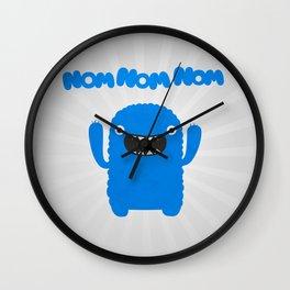 Funny & Cute Om nom nom nom - Monster Wall Clock