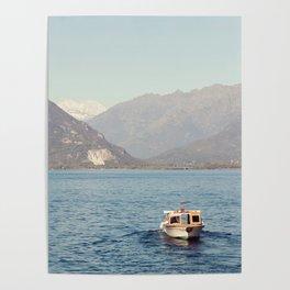 Boat on Lago Maggiore Poster