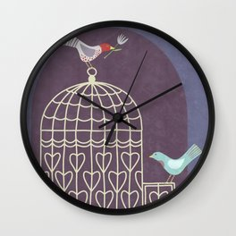 Leaving the Birdcage Wall Clock