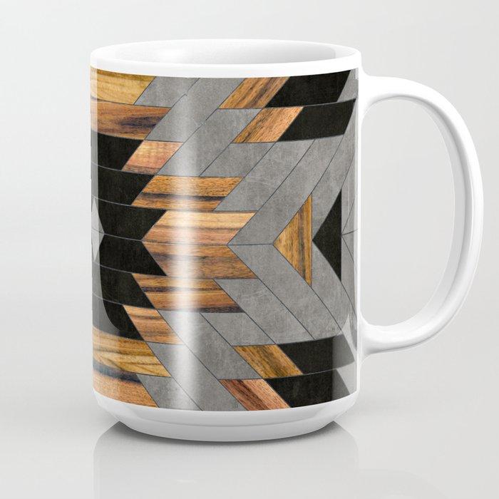 Urban Tribal Pattern No.6 - Aztec - Concrete and Wood Coffee Mug
