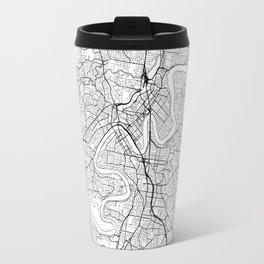 Brisbane Map White Travel Mug