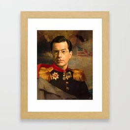 Stephen Colbert 19th Century Classical Painting Framed Art Print