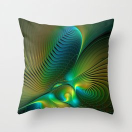The Protector, Abstract Fractal Art Throw Pillow