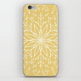 Single Snowflake - Yellow iPhone Skin