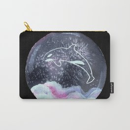 Orca in Snowglobe Painting Carry-All Pouch