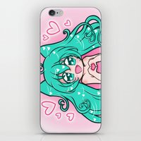 vocaloid iPhone & iPod Skins featuring Vocaloid: Love Miku by Alice In Underwear