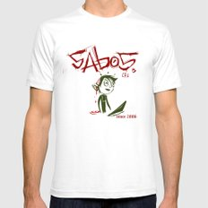 Sabos SMALL Mens Fitted Tee White