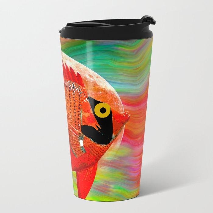 ANGEL FISH Metal Travel Mug