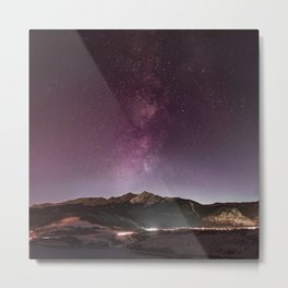 Milky Way Landscape Metal Print