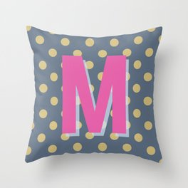 M is for Magical Throw Pillow