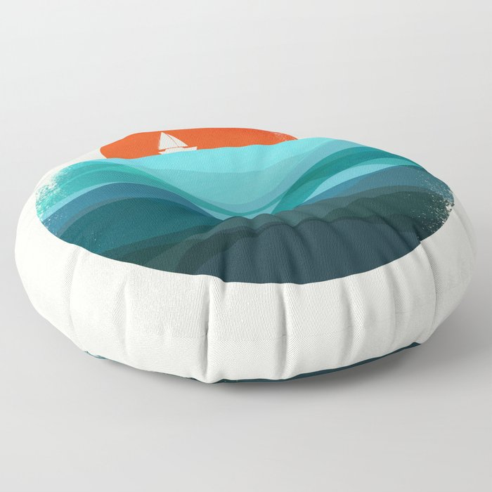 Deep blue ocean Floor Pillow