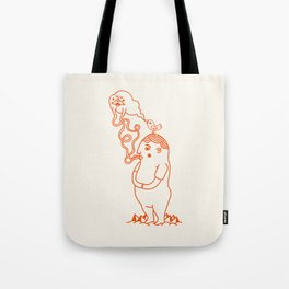 Your Little Cloudy Ghost (With Staches) Tote Bag