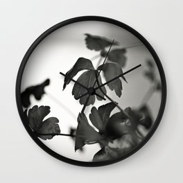 Parsley in Black and White Wall Clock