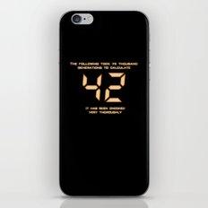 42: The Answer iPhone & iPod Skin