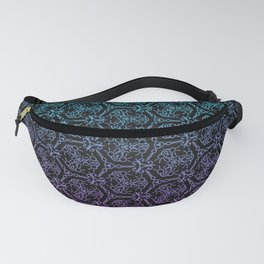 chain link - blue and purple mandala pattern Fanny Pack