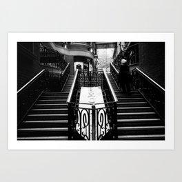 Stairway motion Art Print