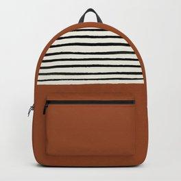 Burnt Orange x Stripes Backpack