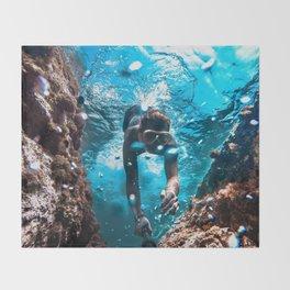 Diving in Spain Throw Blanket