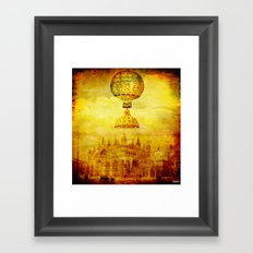 the Levitation of the dome Framed Art Print