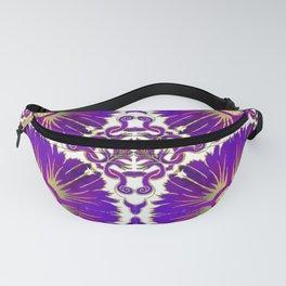 Azulejos - Portuguese Tiles Purple Fanny Pack