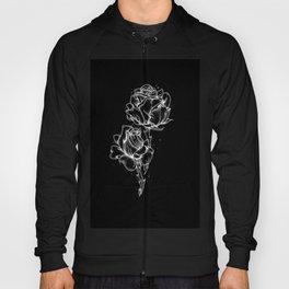 Dotwork Roses, White on black Hoody