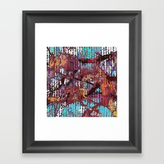 Multicolored nature abstract Framed Art Print