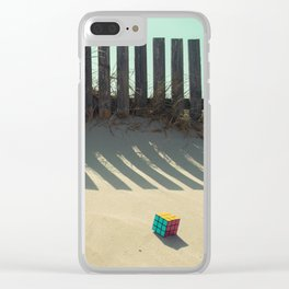 Rubik shading in the beach Clear iPhone Case
