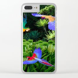 Jungle Paradise Clear iPhone Case