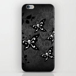 Skullerflies in the garden - dark scale iPhone Skin