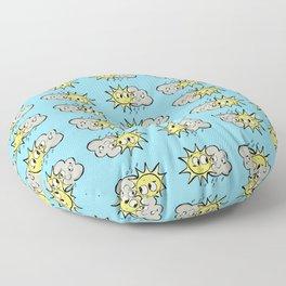 Sun and cloud Floor Pillow
