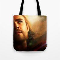 thor Tote Bags featuring Thor by Kate Dunn