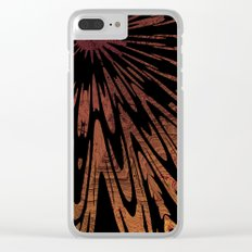 Native Tapestry in Burnt Umber Clear iPhone Case