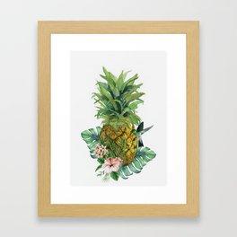 Tropical Pineapple Framed Art Print