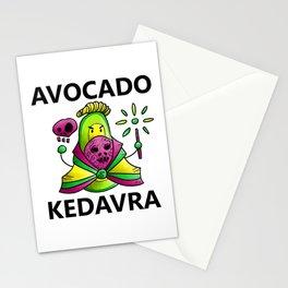 Avocado Kedavra - Death Eater Avocado with Wand Stationery Cards