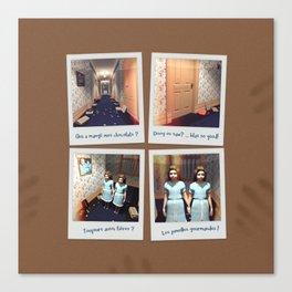 Jumelles et Chocolat Canvas Print