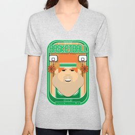 Basketball Green - Court Dunkdribbler - Josh version Unisex V-Neck