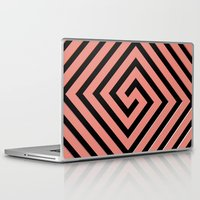 greek Laptop & iPad Skins featuring Peachy Greek by Lyle Hatch